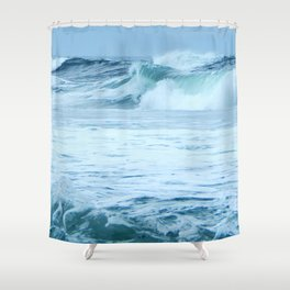Rolling Green Surf Shower Curtain