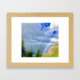 Canadian Rocky Rainbow Framed Art Print