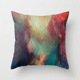 Galactic Watercolor Throw Pillow
