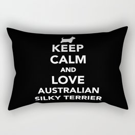 Keep calm and love Australian Silky Terrier Rectangular Pillow