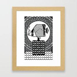 フウライチョウチョウウオ // Vagabond butterflyfish Framed Art Print