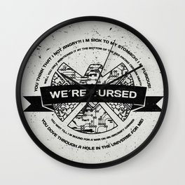 we´re cursed Wall Clock