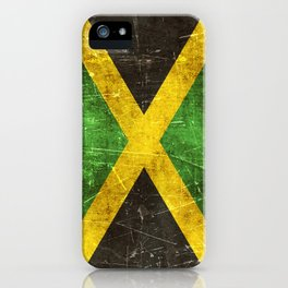 Vintage Aged and Scratched Jamaican Flag iPhone Case