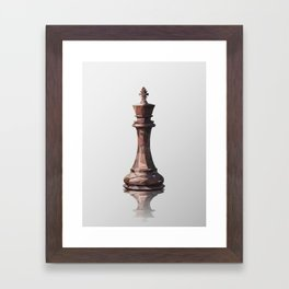king low poly Framed Art Print