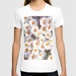 Spring Daisy Wildflower Watercolor T-shirt