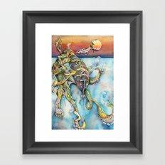 Zulu Blue Ringed Octopus Framed Art Print
