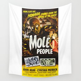 The Mole People, vintage horror movie poster Wall Tapestry