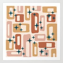 Retro Mid Century Modern Abstract Pattern 125 Art Print