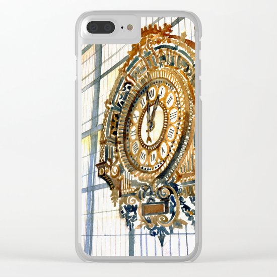 Clock Clear iPhone Case