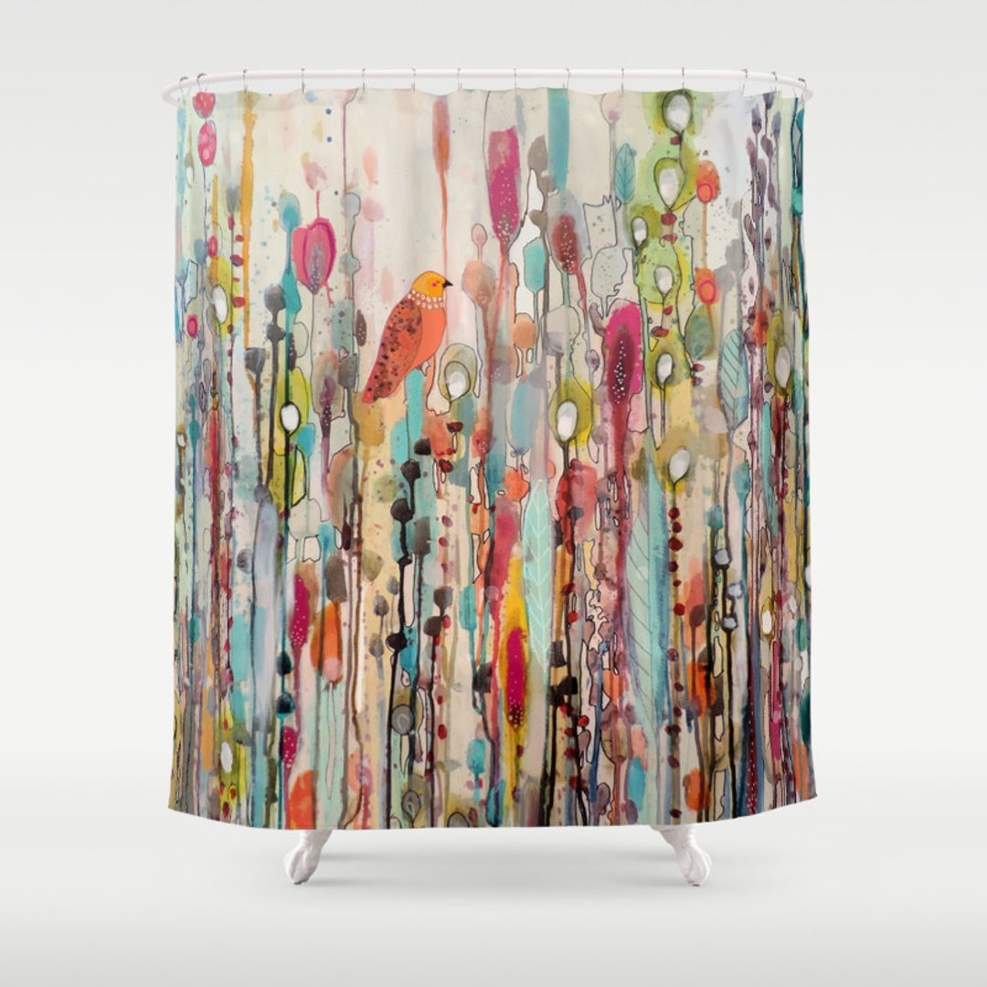 bird shower curtains society6. Black Bedroom Furniture Sets. Home Design Ideas