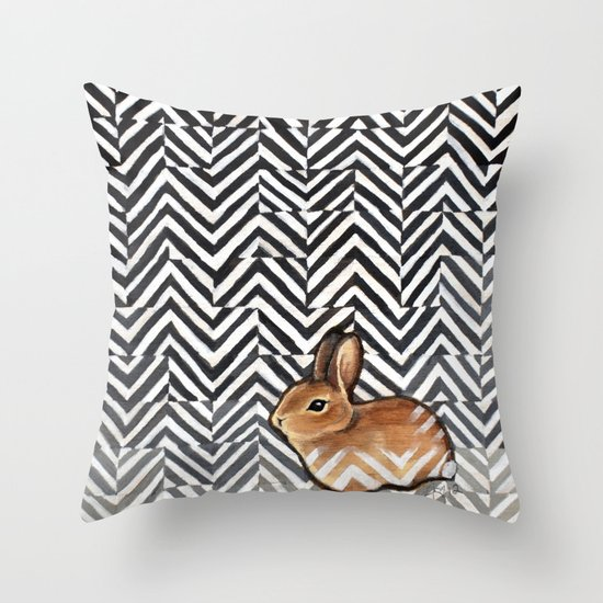 Little Miss Sarah Throw Pillow