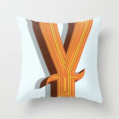 Letter Y Throw Pillow