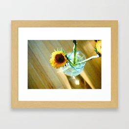 Tracy's Sunflower Framed Art Print