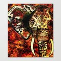 Patterned Sketched Elephant by inspiredimages