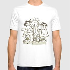 Enchanted Forest Mens Fitted Tee MEDIUM White