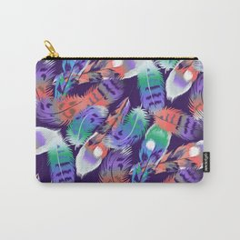 bird feathers color rainbow animals fly Carry-All Pouch