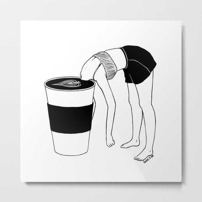 Coffee, First Metal Print