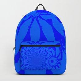 The Modern Flower Blue on Blue Backpack
