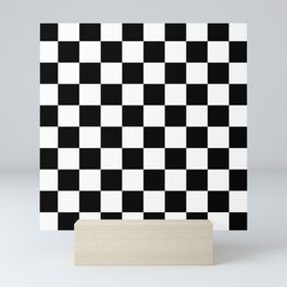 Black & White Checker Checkerboard Checkers Mini Art Print