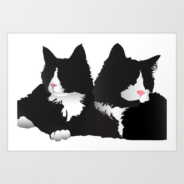 Fancy-Shmancy Tuxedos Art Print