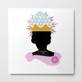 Queen Nzinga of Ngondo and Matamba Metal Print