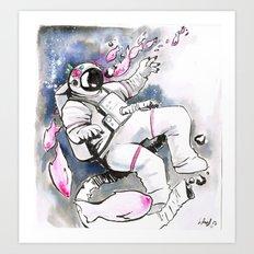 Space Fish Art Print