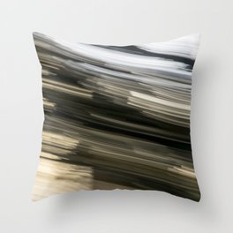 Black and White Abstract Throw Pillow