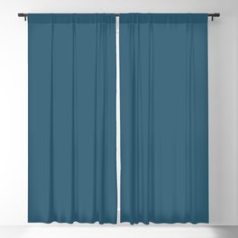 Dark Blue Solid Color Inspired by Benjamin Moore Blue Danube 2062-30 Blackout Curtain
