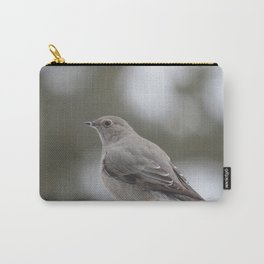 Grey Bird in Winter Carry-All Pouch