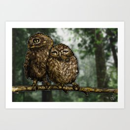 Two Birds, One Stoned Art Print