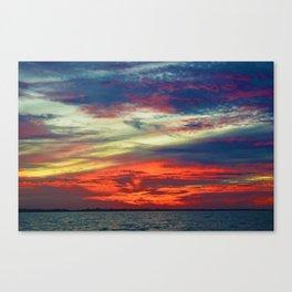 October Lake St.Clair Sunset Canvas Print