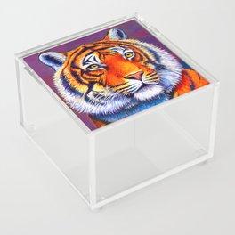 Colorful Bengal Tiger Portrait Acrylic Box