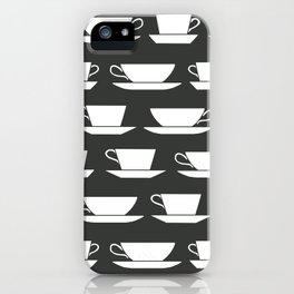 Pattern of Coffee and Tea Cups iPhone Case