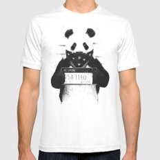 Bad panda White Mens Fitted Tee MEDIUM