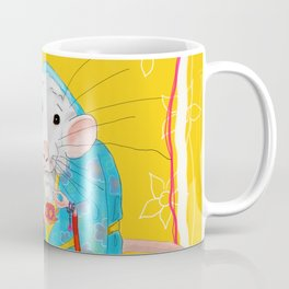 Stay Calm and Meditate with Stu the Rat Coffee Mug