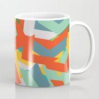 chevron Mugs featuring Chevron by INDUR