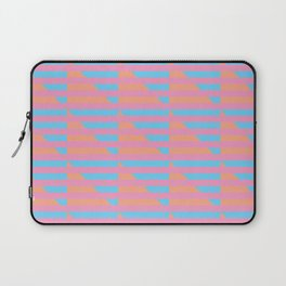 Pink Blue Peach Houndstooth /// www.pencilmeinstationery.com Laptop Sleeve