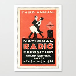 Kluge Poster Stamp Collection... Radio Convention Canvas Print