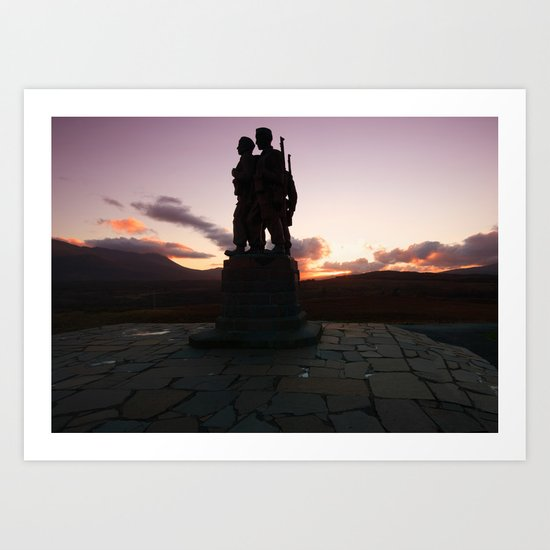 The Commando Monument Art Print