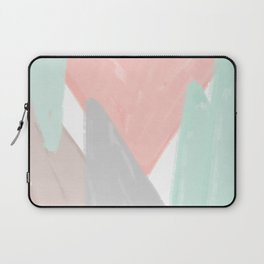 Soft angles - coral and mint abstract Laptop Sleeve