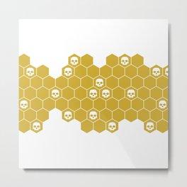 Honey Skulls - White Metal Print