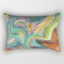 Turquoise, Copper, Gold, Green, Mosaic Design Rectangular Pillow
