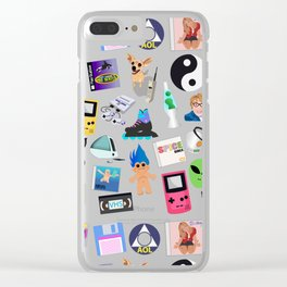 Bring Back the 90's Clear iPhone Case