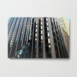 Skyscrapers & Mirrors Metal Print
