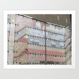 Architectural Detail Wall, Salvage, Old building, Chicago Art Print