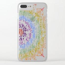 Rainbow Mandala Urban Decay Style - Vintage, Aged Pattern Clear iPhone Case