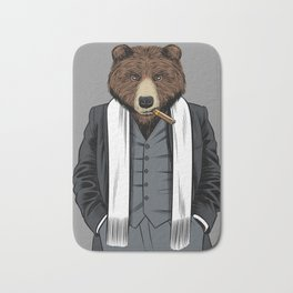 Grizzly gangster Bath Mat