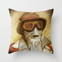 fear and loathing Throw Pillows featuring Fear and Loathing by Ant Errickson