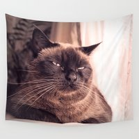 cookie Wall Tapestries featuring Cookie by Rachel's Pet Portraits