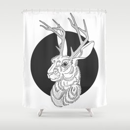 The Jackelope Shower Curtain